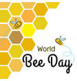 world bee day design template with bees on vector image vector image