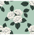 Classic vintage seamless pattern with white roses vector image