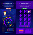 abstract future interface banner set vector image