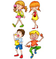Children and food vector image