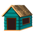 a dog house on white background vector image vector image