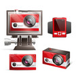 action camera set vector image