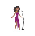 african american jazz singer beautiful woman in vector image vector image