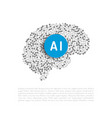 Artificial intelligence banner vector image