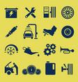 auto car repair service icon symbol a set car vector image