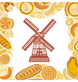 Bakery bread background vector image