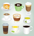 Basic Hot Drinks Set vector image