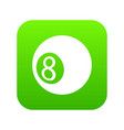 billiard ball icon green vector image vector image