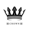 black crown logo 02 vector image vector image
