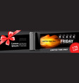 black friday sale template horizontal banner vector image vector image