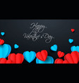 blue and red paper elements in shape a vector image vector image