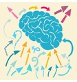 Brain and ideas flow vector image vector image