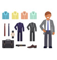 business dress code infographics vector image vector image