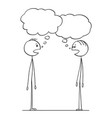 cartoon of two men conversation with empty speech vector image vector image