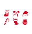 christmas icon symbol collection set lolipop vector image vector image