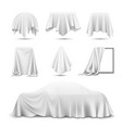 cloth covered objects realistic set vector image
