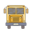 color crayon stripe image of front view school bus vector image vector image