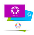 community logo design template vector image vector image