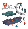 concept migration and state border security vector image