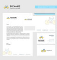 cycle business letterhead envelope and visiting vector image vector image