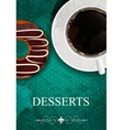 dessert menu vector image vector image