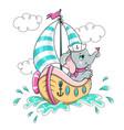 elephant on ship vector image