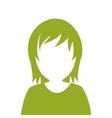 faceless woman portrait icon vector image