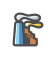 factory manufactory air pollution icon vector image