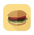 Fastfood Burger Set 4 vector image vector image