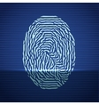 Fingerprint identification scanning system Finger vector image