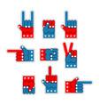 foam finger usa patriot american hand symbol vector image vector image