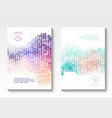 geometric cover design vector image