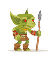 goblin evil minion dungeon monster fantasy vector image