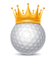 Golf ball in crown vector image vector image