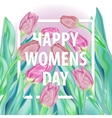 Happy Womens Day Typographical Background With vector image vector image