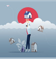 home insurance and risk concept vector image vector image