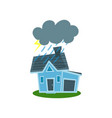 house struck by lightning property insurance vector image