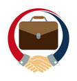 icon logo for the job deal vector image vector image