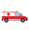 insurance and ambulance vector image vector image