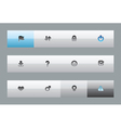 Interface buttons for signs vector image vector image