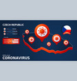 isometric map czech republic with highlighted vector image vector image