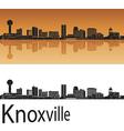 Knoxville skyline in orange vector image vector image