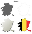 Limburg outline map set - Belgian version vector image vector image