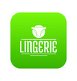lingerie design icon green vector image vector image