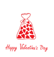 Love bag with hearts Happy Valentines Day vector image vector image