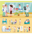 medical care composition vector image vector image