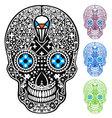 mexican skull cross-skull vector image