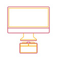 monitor computer graphic tablet design equipment vector image vector image