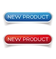New product button set vector image vector image
