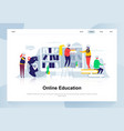 online education modern flat design concept vector image